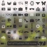 Set of fashion icons Royalty Free Stock Images