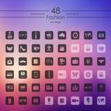 Set of fashion icons Royalty Free Stock Images