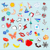 Set of fashion patches or badges Royalty Free Stock Images