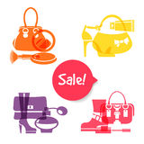 Set of fashion shopping icons Royalty Free Stock Photos