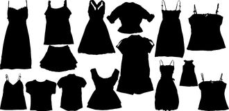 Set of fashion  silhuettes Stock Image
