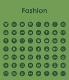 Set of fashion simple icons Stock Images