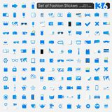 Set of fashion stickers Royalty Free Stock Image