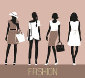 Set of Fashion women. Stock Photo
