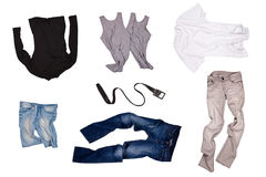 Set of fashionable clothers Stock Photo