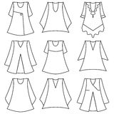 set of fashionable  dresses for girl Royalty Free Stock Image
