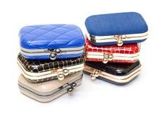 Set of fashionable female handbags Royalty Free Stock Photo