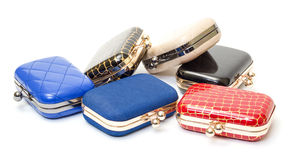 Set of fashionable female handbags Stock Photo