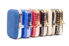 Set of fashionable female handbags Royalty Free Stock Photography