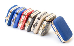 Set of fashionable female handbags Stock Image