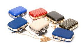 Set of fashionable female handbags Stock Photography