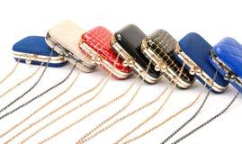 Set of fashionable female handbags Royalty Free Stock Image