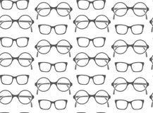 Set of fashionable glasses silhouettes Stock Photos