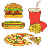 Set of Fast Food. Beautiful Set of Fast Food Royalty Free Stock Images