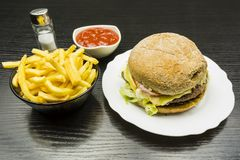 Set of fast food. Stock Photography