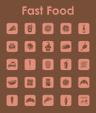 Set of fast food simple icons Stock Image