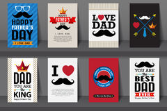 Set of Father.s day brochures in vintage style Royalty Free Stock Photography