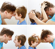 set father and son family relationships Stock Photo