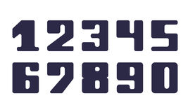 Set fatty numeral for decoration and design Stock Image