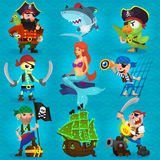 Set of fearless pirates Royalty Free Stock Image