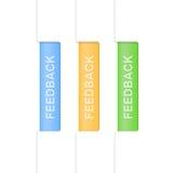 Set of feedback tabs. Design template Stock Photos