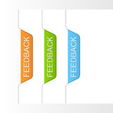 Set of feedback tabs. Royalty Free Stock Images