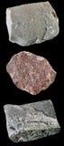 Set Felsen und Mineralien â10 Lizenzfreie Stockfotos