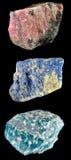 Set Felsen und Mineralien â5 Lizenzfreie Stockfotos