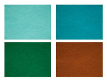 Set of felt texture backgrounds. Stock Images
