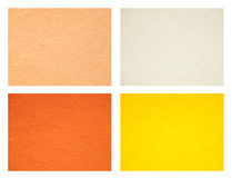 Set of felt texture backgrounds. Warm colors. Royalty Free Stock Photo