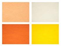 Set of felt texture backgrounds. Warm colors.