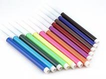 Set felt-tip Federn der Farbe Lizenzfreies Stockbild
