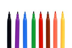 Set of felt-tip pens Royalty Free Stock Image
