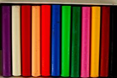 Set of felt-tip pens. Of different colors stock images