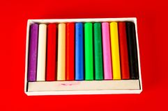 Set of felt-tip pens. Of different colors stock photo