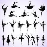 Set of female ballet Stock Photos