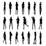 Set of female clothes Stock Photos