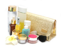 Set of female cosmetics Stock Image