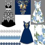 Set of female dresses Royalty Free Stock Photography