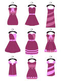Set of female dresses Royalty Free Stock Photo