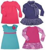 Set of female dresses. Isolated on white Royalty Free Stock Image