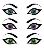 Set female eyes isolated Royalty Free Stock Image