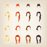 Set of female hair Stock Photography