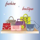 Set of female handbags. Stock Image