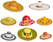 Set of female hats Stock Image