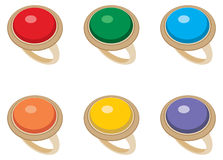 Set of female jeweler rings Royalty Free Stock Image