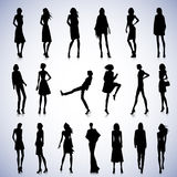 Set of female poses Stock Photography