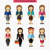 Set of female professions. Meteorologist Stock Photos