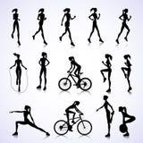 Set of female sport Stock Images