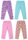Set of female sweatpants. Isolated on white Royalty Free Stock Photo